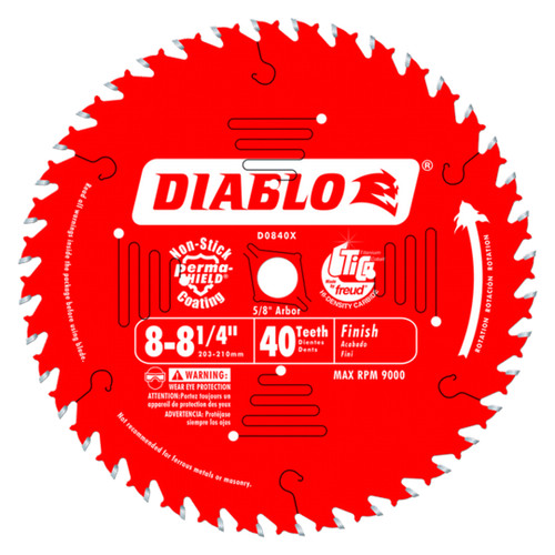Freud FRE-D0840X Diablo 8‑1/4 in. x 40 Tooth Finishing Saw Blade