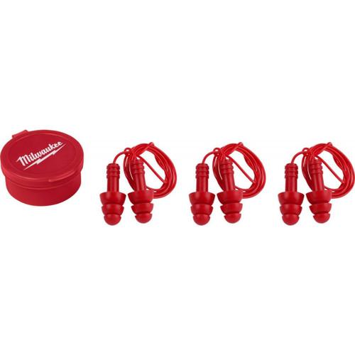 Milwaukee 48-73-3151 Ear Plugs Reusable Corded - 3 Pack