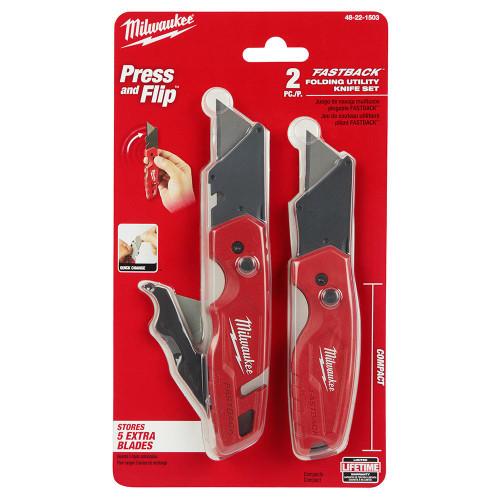 Milwaukee 48-22-1503 FASTBACK Folding Utility Knife Set  (2-Piece)