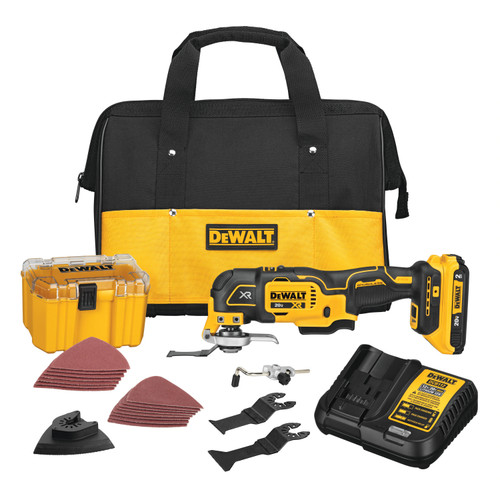 DeWALT DCS356D1 20V MAX XR Brushless Cordless 3-Speed Oscillating Multi-Tool Kit (2.0 AH Battery)