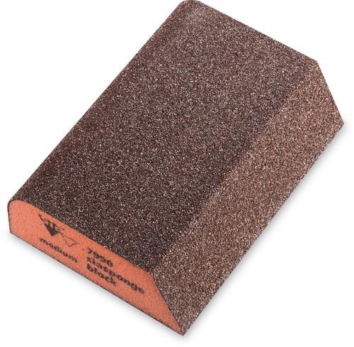 """sia Abrasives SIA-0070125501 2-3/4"""" 7990 siasponge Combi-Block Medium Orange (10-Pieces)"""