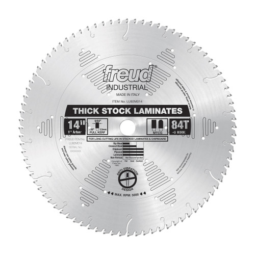 "Freud FRE-LU92M014 14"" x 84T Thick‑Stock Laminate Blade"