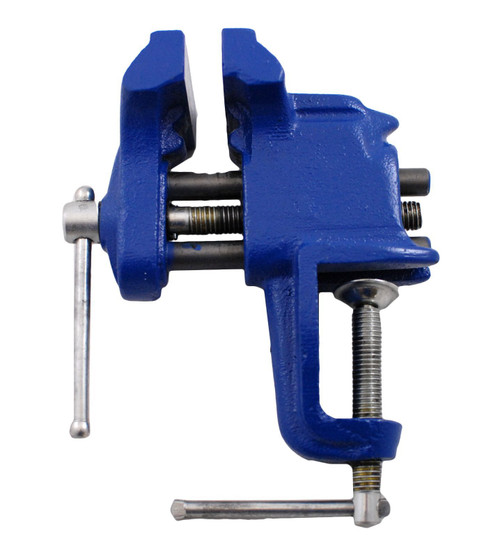 Irwin IRW-226303ZR 3 in. Steel Stationary Bench Clamp-on Vise, Blue