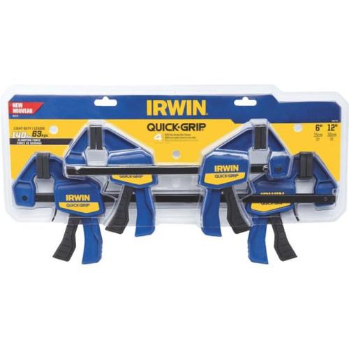 Irwin IRW-1964748 Quick-Grip Bar Clamp Set 6Inch + 12Inch - 4 Pack
