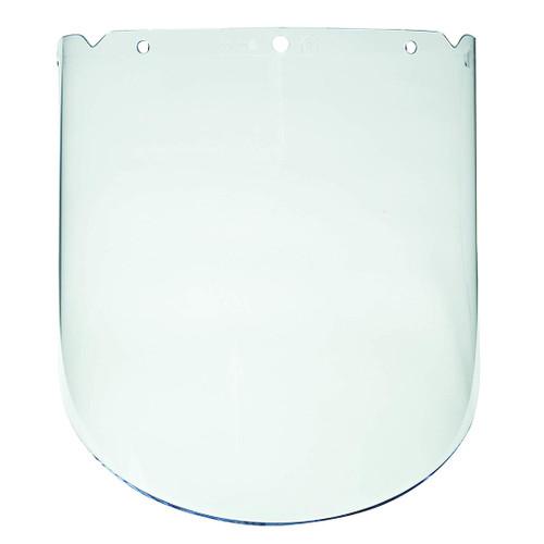 "MSA Safety MSA-10115851 V-Gard Propionate Clear, Molded Face Shield for Chemical & Splash (9.25"" x 18"" x 0.98"")"