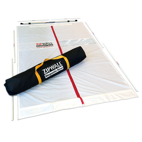 Zipwall ZIP-MDK Magnetic Dust Barrier Door Kit, Class A Retardant