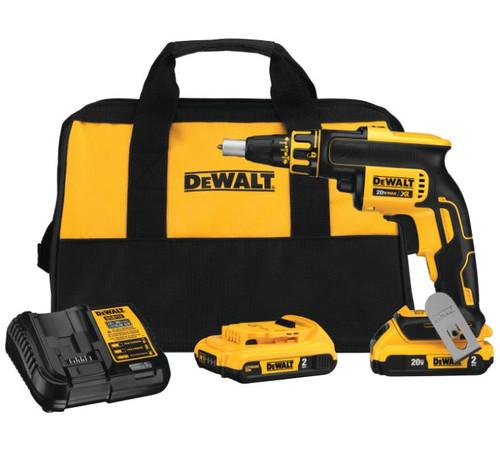 DeWALT DCF620D2 20V Max Drywall Screwgun Kit (2.0AH)