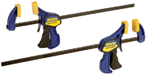 Irwin IRW-1964745 12-inch Quick-Grip Bar Clamp, One-Handed Mini (2 Pack)