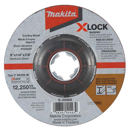 Makita MAK-E-00468 5X1/4 X-Lock Grinding Disc (25-Pack)