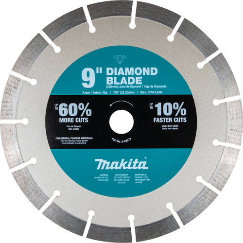 "Makita MAK-E-02973 9"" Ultra-Premium Plus Diamond Blade, Segmented, General Purpose"
