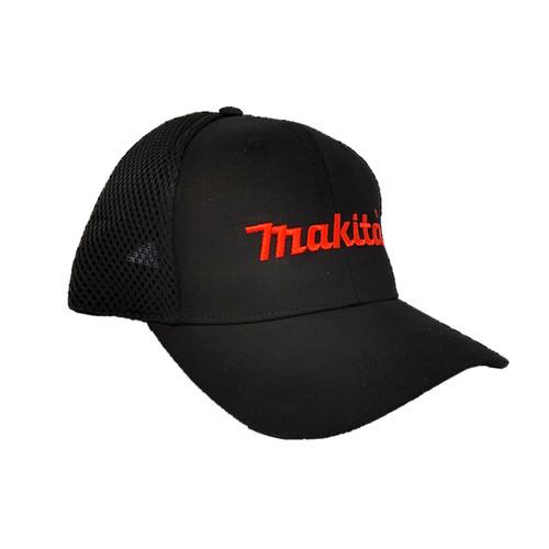 Makita HAT-MAK-O/S Black Mesh Hat