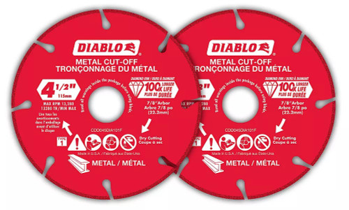 Freud FRE-CDD045DIA102P Diablo 4-1/2 Inch Diamond Metal Cut-Off Blade (2-Pack)
