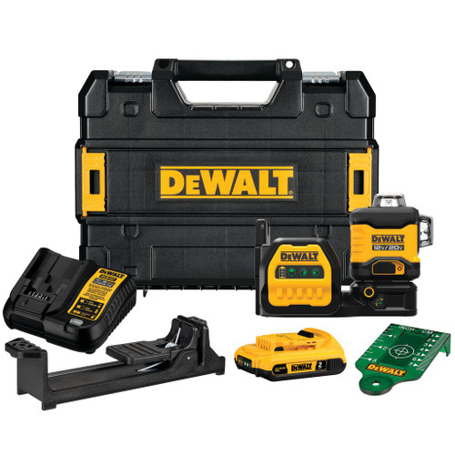 DeWALT DCLE34030G 20V MAX 3x 360 Green Laser 2.0Ah Kit