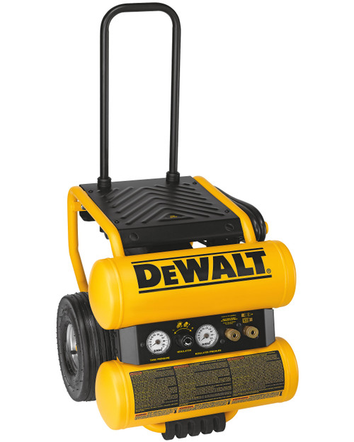 DeWALT D55154 1.1HP Continuous 4 Gallon Electric Wheeled Dolly-Style Air Compressor with Panel