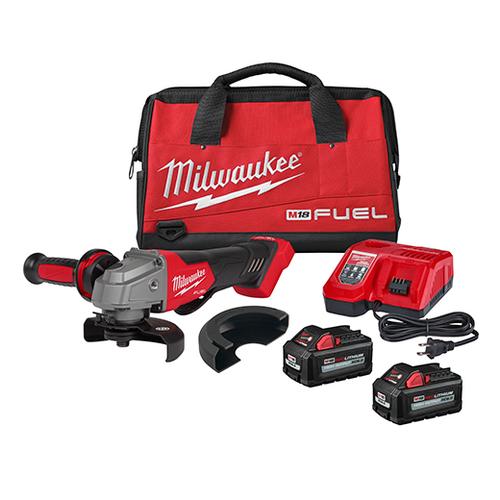 "Milwaukee 2880-22 M18 FUEL 4-1/2"" / 5"" Grinder Paddle Switch, No-Lock 2x XC6.0 Kit"