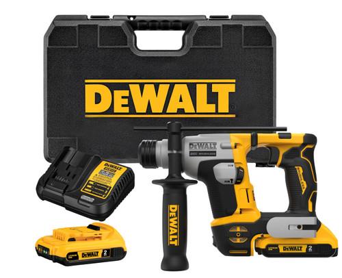 "DeWALT DEW-DCH172D2 ATOMIC 20V MAX Brushless Cordless 5/8"" SDS Plus Ultra Compact Rotary Hammer 2x 2.0Ah Kit"