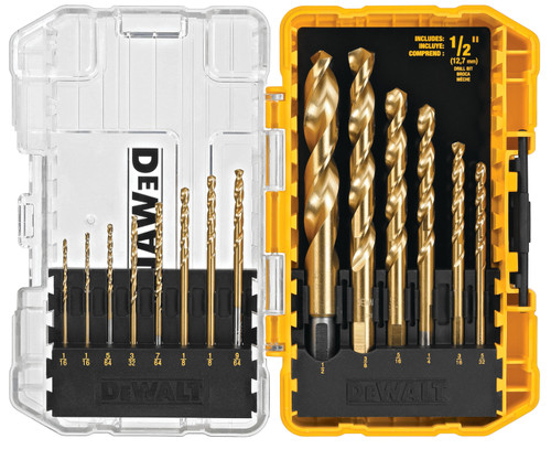 DeWALT DW1341 14-Piece Impact Ready Titanium Speed Tip Drill Bit Set with TOUGHCASE+ SYSTEM