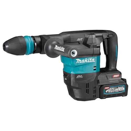 Makita MAK-HM001GM202 40V MAX XGT 13 lbs. SDS-MAX Demolition Hammer with Brushless Motor and AWS 2x 4.0 Ah Kit