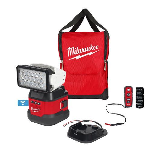 Milwaukee MIL-2123-20 M18 Utility Remote Control Search Light w/ Portable Base