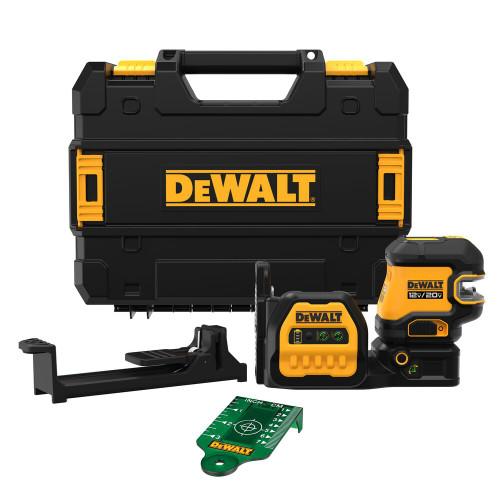 DeWALT DEW-DCLE34220GB 20V MAX Cordless Cross Line Green Laser Kit
