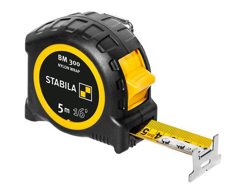 Stabila STAB-30616 Pocket Tape BM 300, 16' (5 M), Cm/Inch Scale