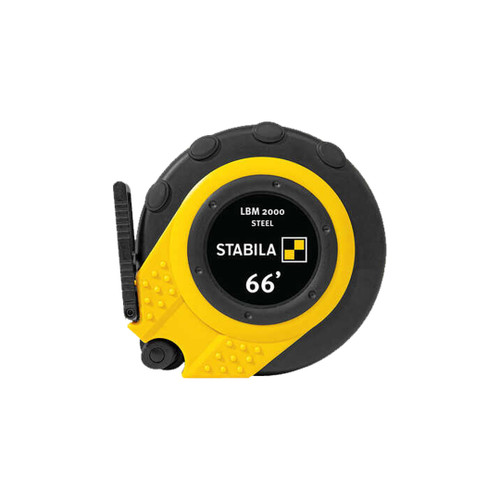Stabila STAB-30950 Closed Case Tape LBM 2000 Steel, 66', Steel Blade, Scale In Inches