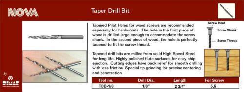 Dimar TDB-1/8-2 1/8 Tapered Drill Bit  (2 - Pack)
