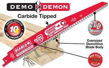 "Freud FRE-DS0606VCWC  6"" C/T Diablo Reciporcating Blade (Carbide Tipped)"