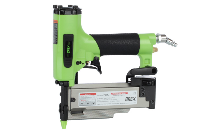 """GREX Tools GREX-P650LXE  23 Ga. 2"""" Headless Pinner, 1 Touch OverRide LockOut (Most Power Pin Nailer on the Market)"""