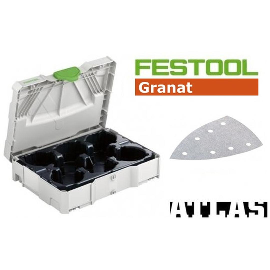 Festool FES-497686GR DTS400 Granat Sanding Paper Set
