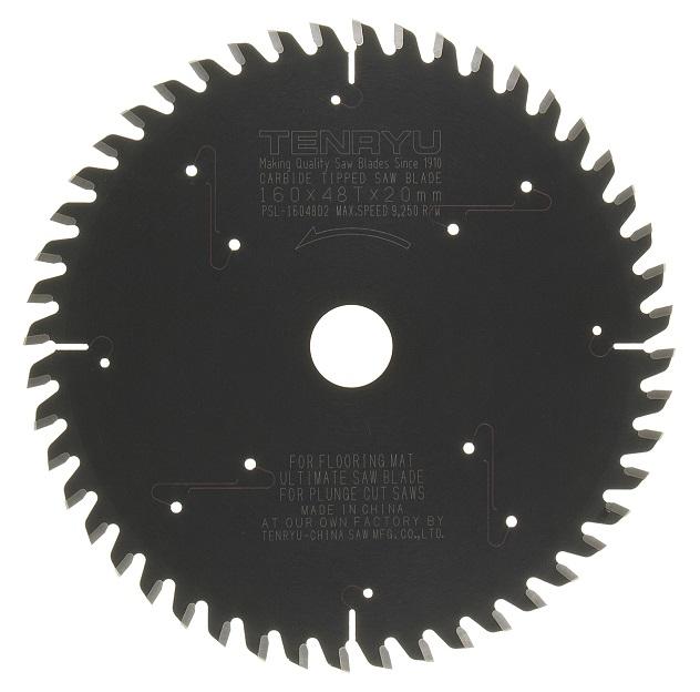 Tenryu TEN-PSL-16048D2 160mm 48T, Festool TS55 Blade, Laminate