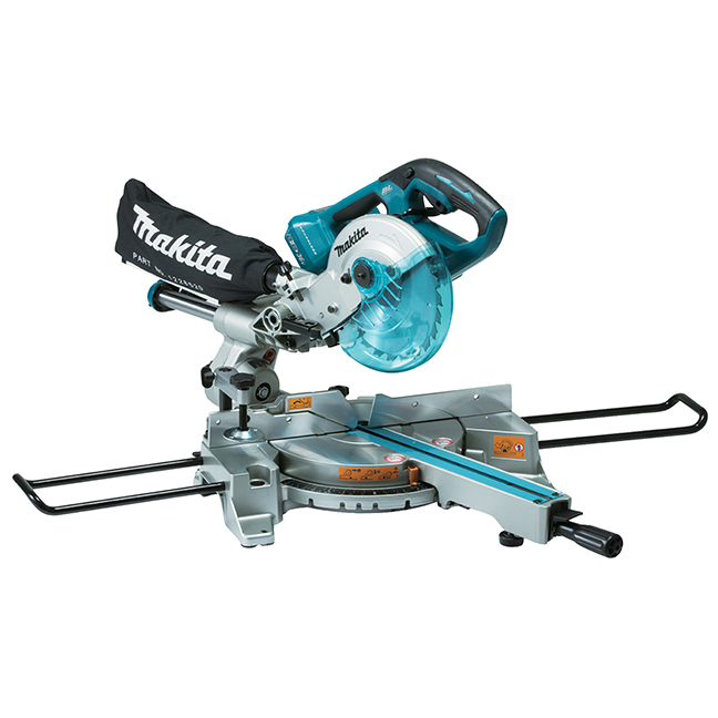 "Makita DLS714Z 7-1/2"" Cordless Dual Sliding Compound Mitre Saw with Brushless Motor 36V"