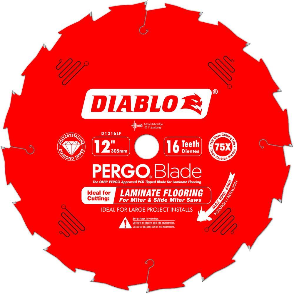 """Freud FRE-D1216LFC  12"""" x 16-Tooth Polycrystalline Diamond (PCD) Tipped Ultimate Flooring Blade"""