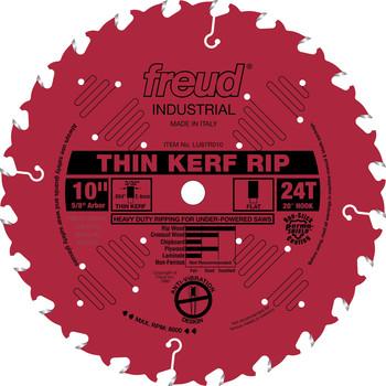 """Freud FRE-LU87R010  10"""" 24 Tooth FTG Thin Kerf Rip Saw Blade"""
