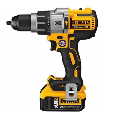 Dewalt DCD996P2  20V Max XR Li-Ion Brushless 3-Speed Hammer Drill Kit with 2x 5.0Ah Batteries