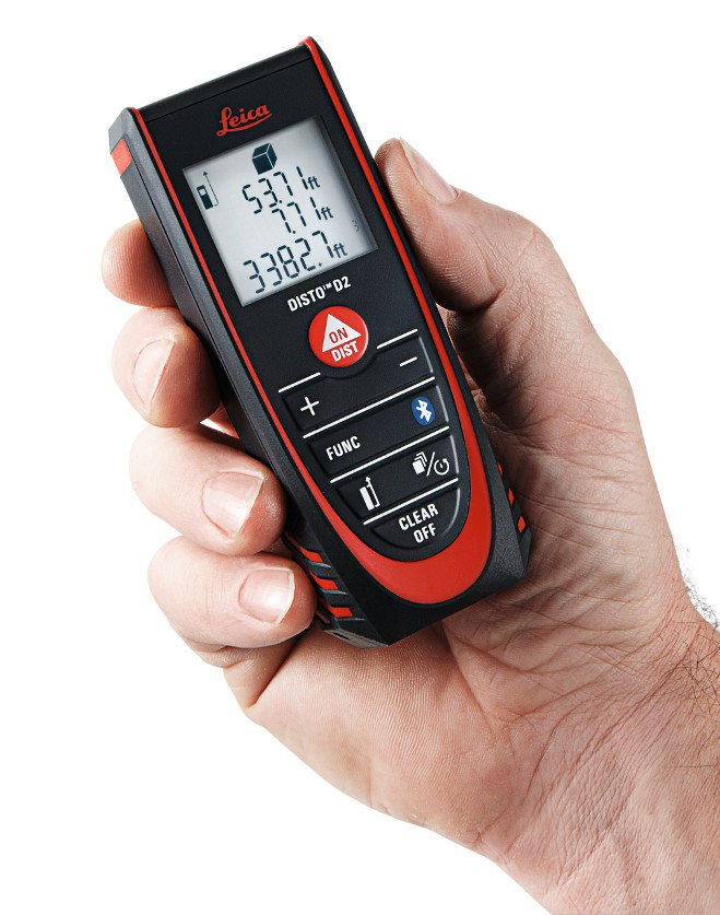 Leica Lasers and Disto LEI-838725 D2 Laser Distance Meter with Bluetooth 4.0