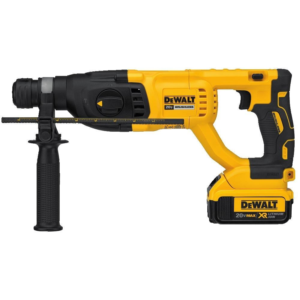 """Dewalt DCH133M2  20V Max XR Brushless 1"""" D-Handle Rotary Hammer Kit with 2x 4.0Ah Batteries"""
