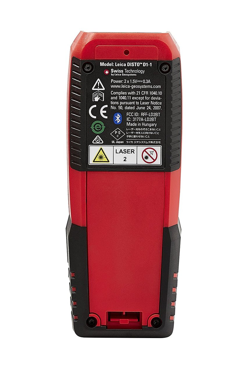 Leica Lasers and Disto LEI-846805 130' Laser Distance Measure with Bluetooth 4.0