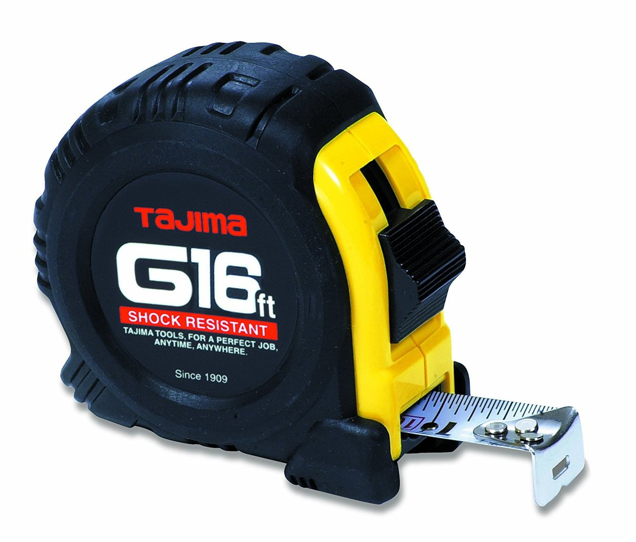 "Tajima TAJ-G-16BW  Standard Scale Tape Measure with 1"" Steel Blade - 16 ft"