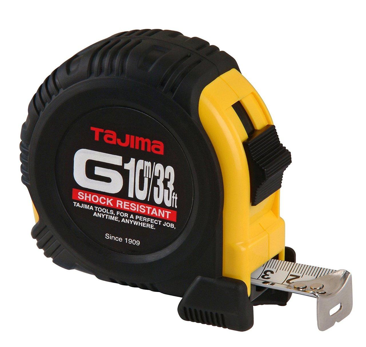 Tajima TAJ-G-33/10MBW  33-Feet by 1-Inch Steel Blade Tape Measure