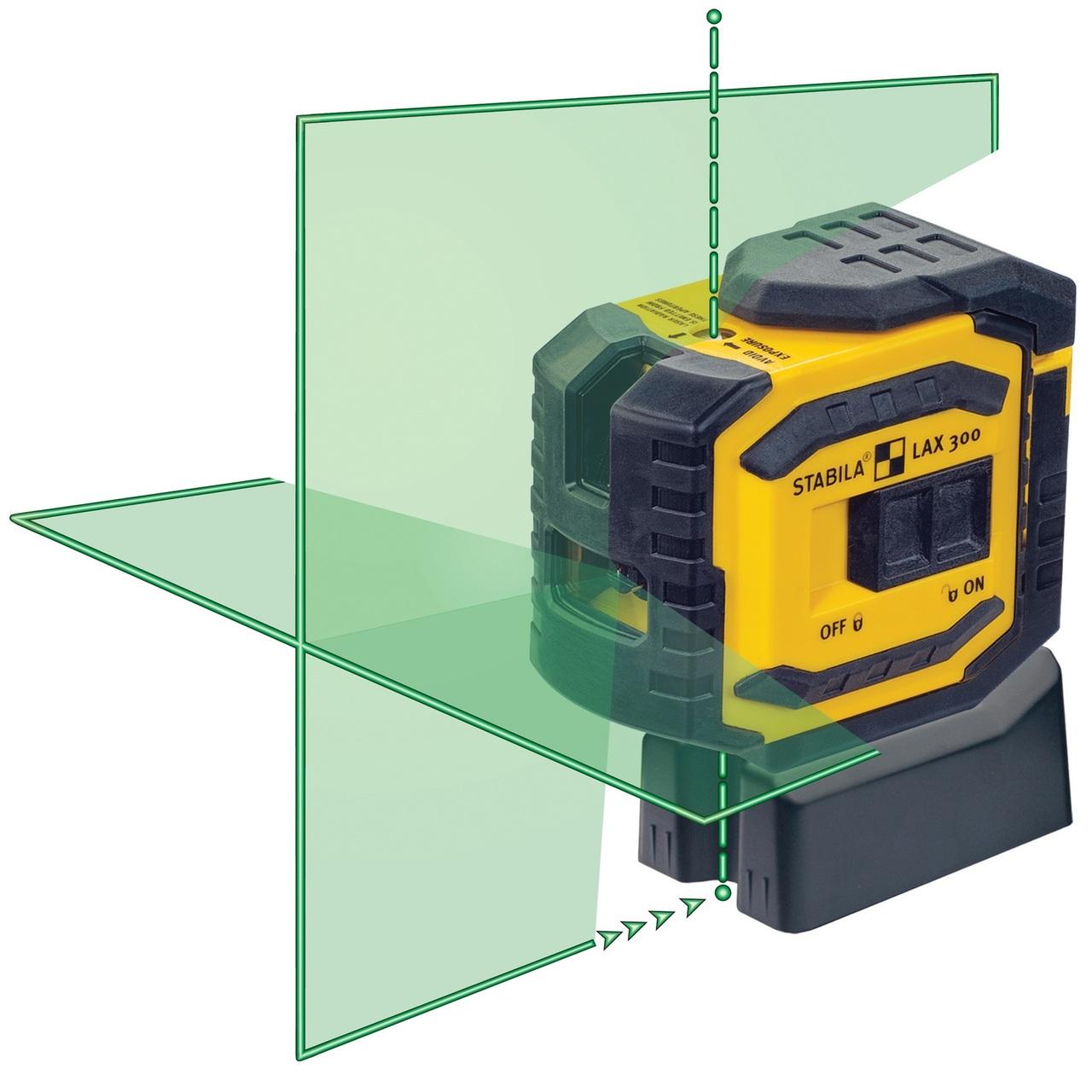 Stabila STAB-03185  LAX300G Green Beam Cross Line Plus Plumb Dots Laser Level