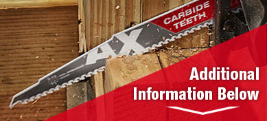 Milwaukee 48-00-5226 THE AX CARBIDE 9in 5TPI
