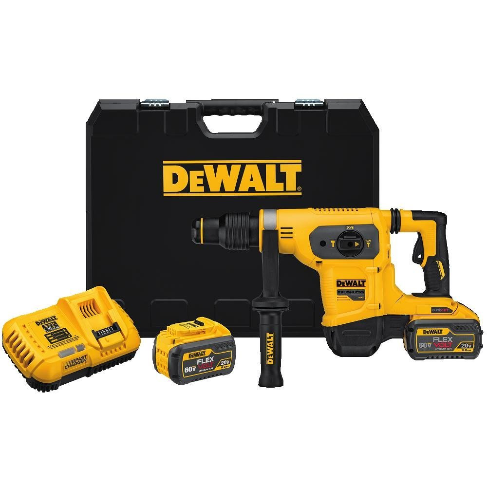 Dewalt DCH481X2  Flexvolt 1-9/16 In. (40 Mm) SDS Max 60 V Combination Hammer Kit with 2x 9.0Ah Batteries