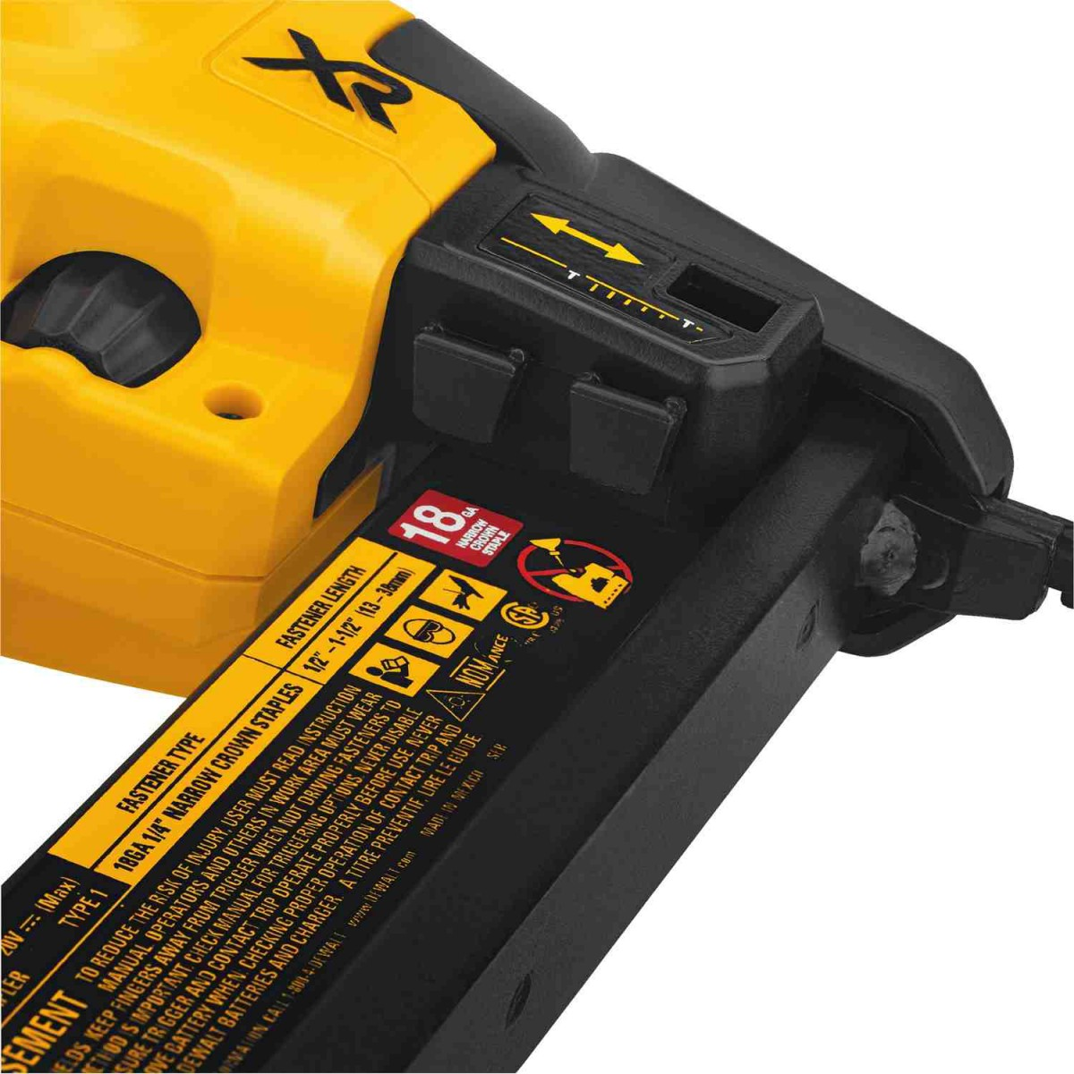 Dewalt DCN681D1  20V Max XR 18 Ga Narrow Crown Stapler Kit with 2.0Ah Battery