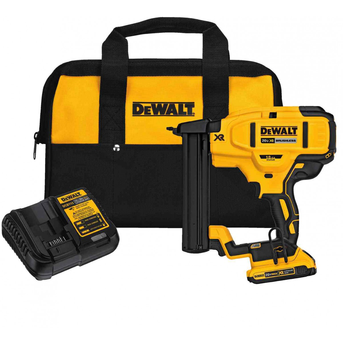 Dewalt DCN681D1  20V Max XR 18 Ga Narrow Crown Stapler Kit with 2.0Ah Battery