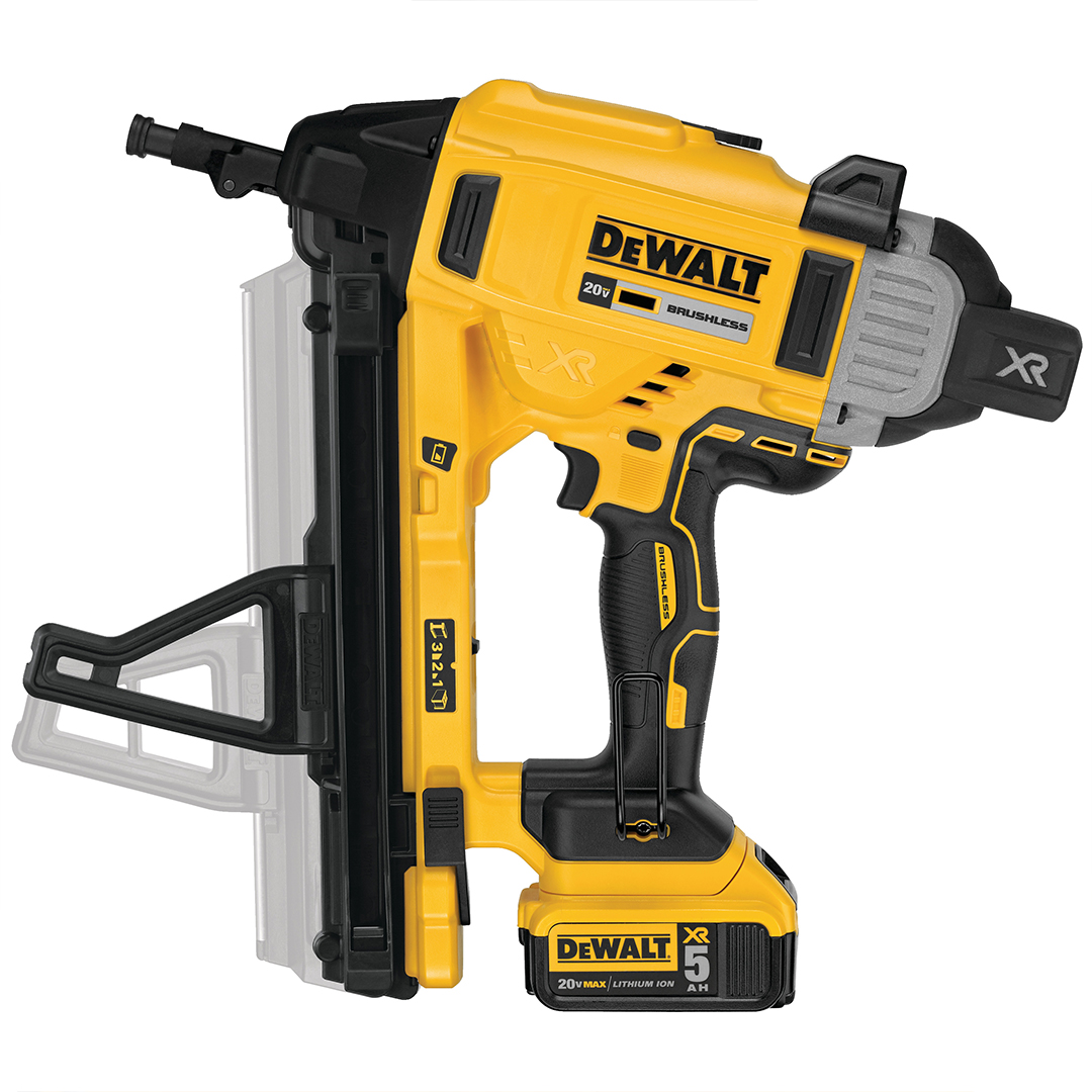 "Dewalt DCN891P2 1"" Magazine Cordless Concrete Nailer 2x 5.0Ah Kit"