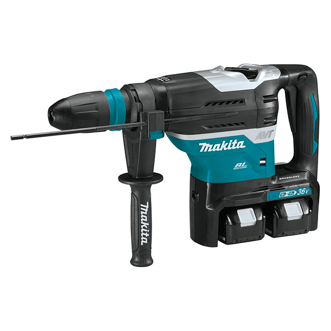 "Makita DHR400PT2 SDS Max 1-9/16"" Cordless Brushless Rotary Hammer Kit"