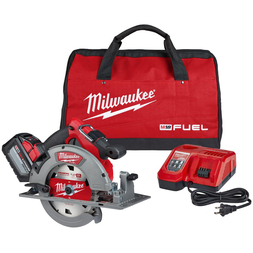 "Milwaukee 2732-21HD M18 FUEL 7-1/4"" Circular Saw 12Ah Kit"