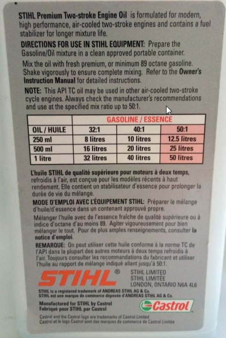 Stihl STL-100ML48  Premium 2 Cycle Engine Oil 100ML