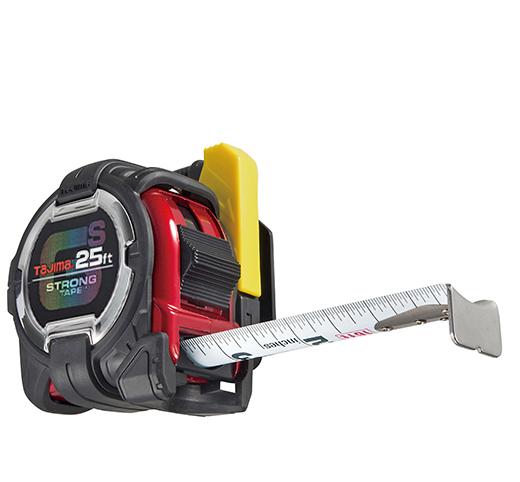 Tajima TAJ-GSSF-25BW  25ft GS-Lock Tape Measure W/ Safety Belt Holder